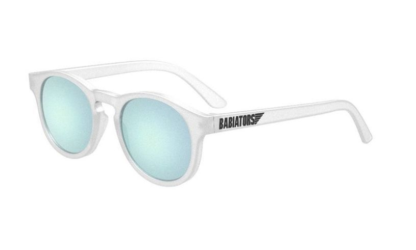 Girl wearing Babiator jetsetter sunglasses