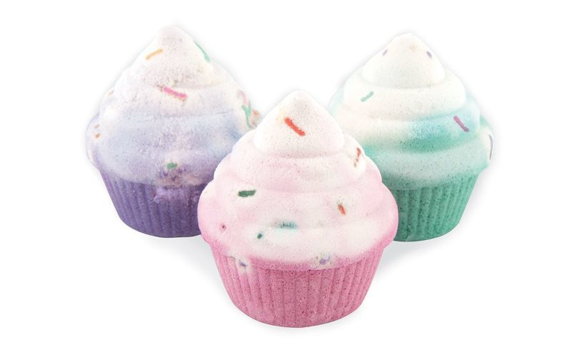 Cupcake Scented Bath Bomb Gift Set box front