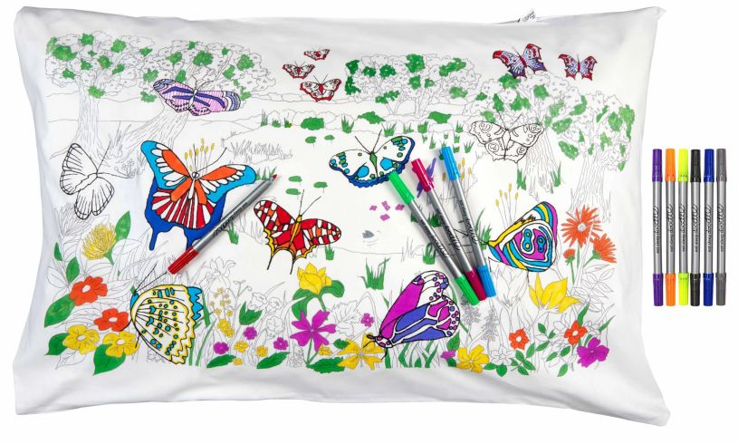 Butterfly Pillowcase Colored