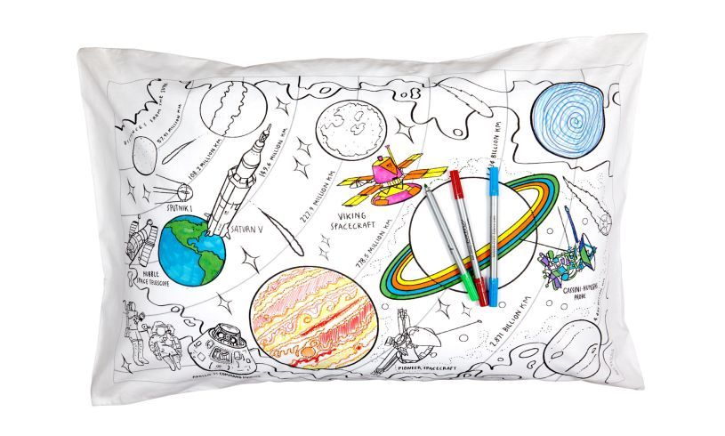 space explorer pillowcase with planets