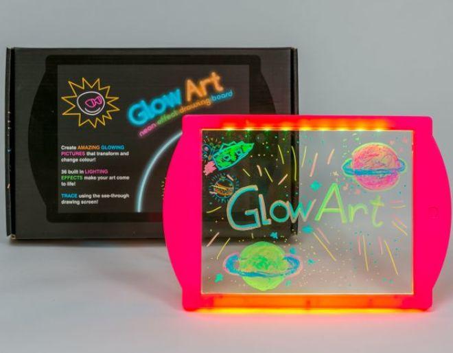 glow art- neon effect drawing board pink