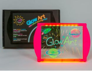 glow art- neon effect drawing board pink