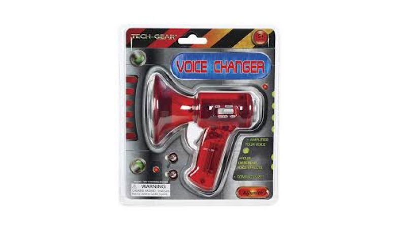 red mini voice changer toysmith box