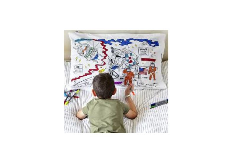 space explorer pillowcase with boy
