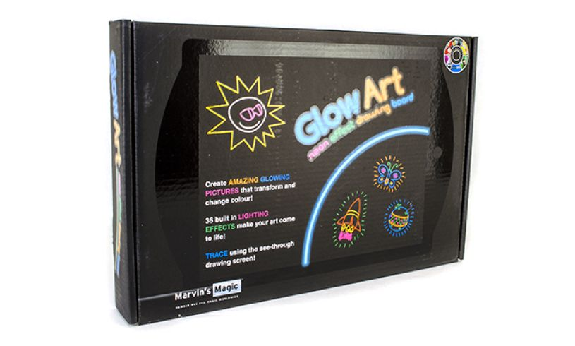 Glow art neon effect drawing board box