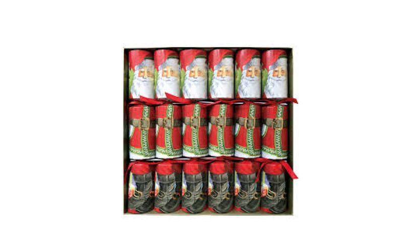 Santa crackers caspari in box