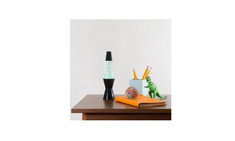 Mini vortex lamp on desk