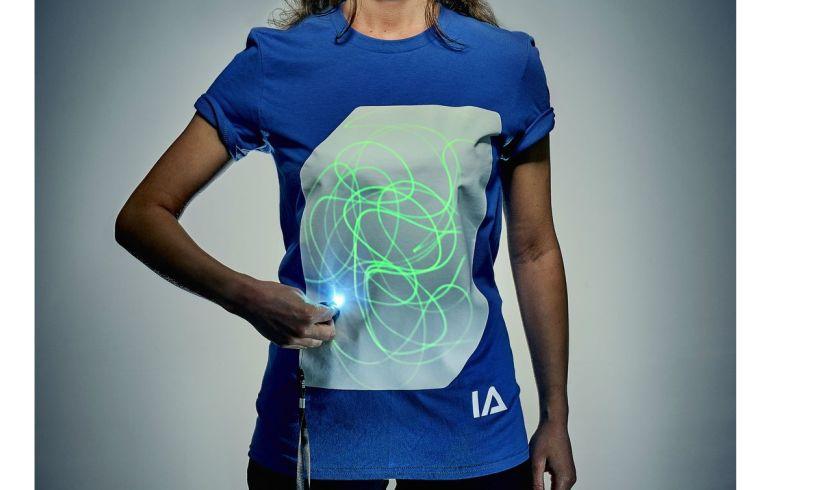 Illuminated apparel t shirt adult
