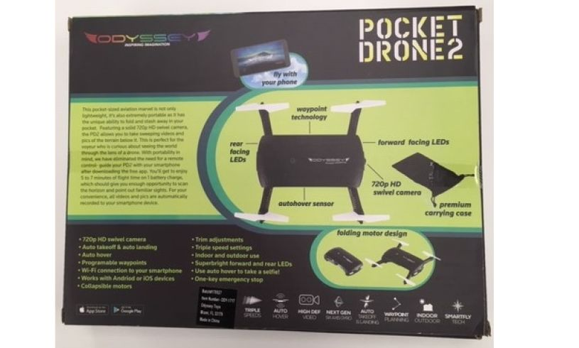 Pocket drone2 box back