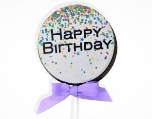 JUMBO Chocolate Birthday Lollipop
