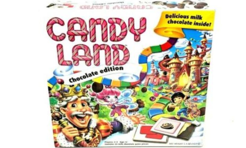 candyland game - with real chocolates