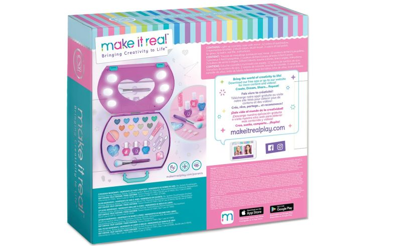 make it real cosmetic light up studio box back