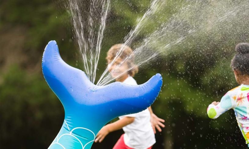 Mermaid Sprinkler close up