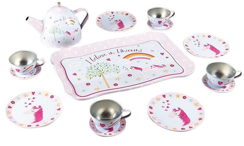 I believe in unicorns tea set