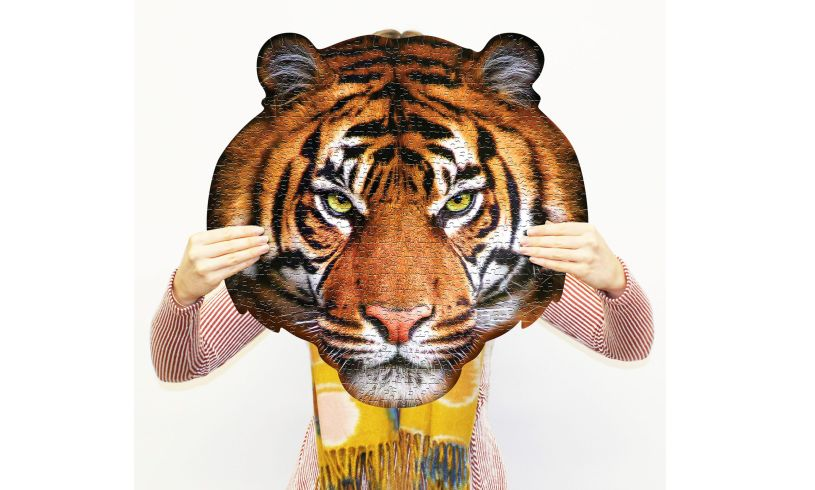 Tigers head Shaped Jigsaw Puzzle