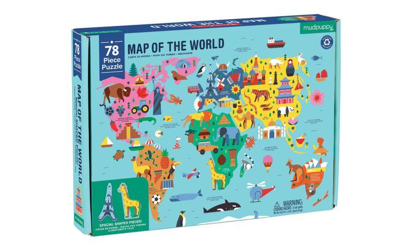 Mudpuppy World Map Puzzle