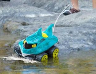 Amphibious remote control shark car