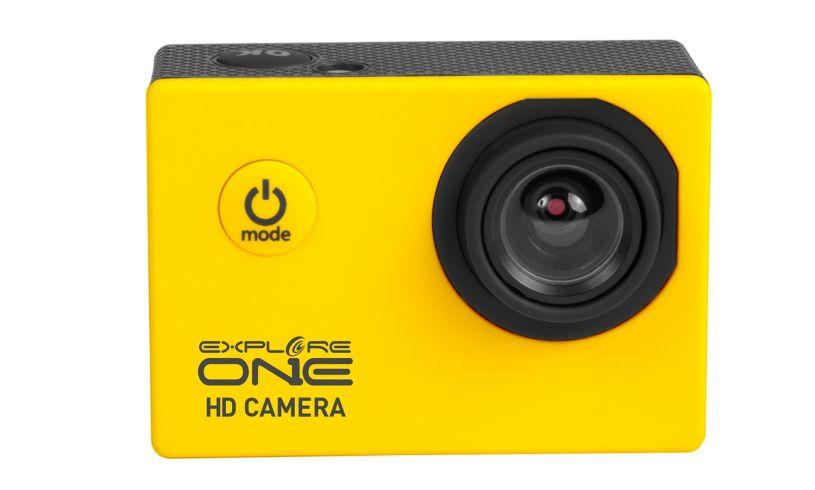 HD action camera in waterproof case
