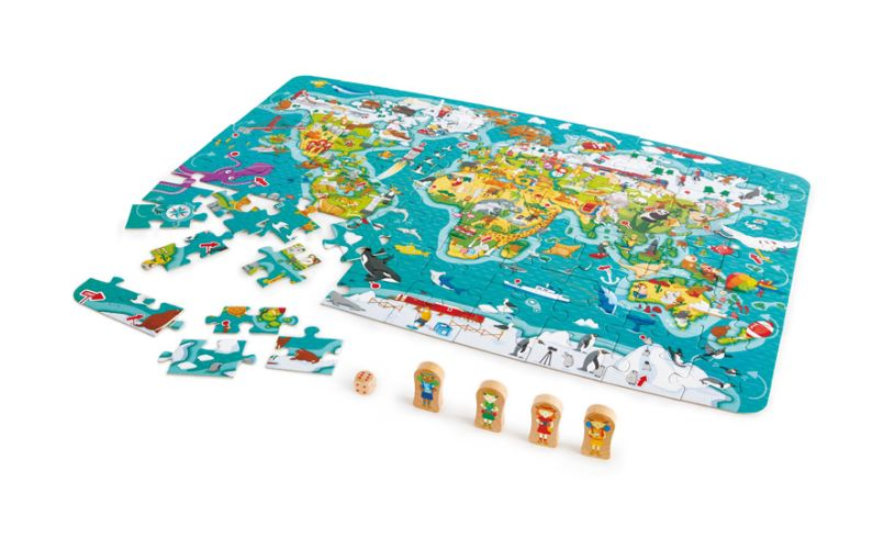 World puzzle and game