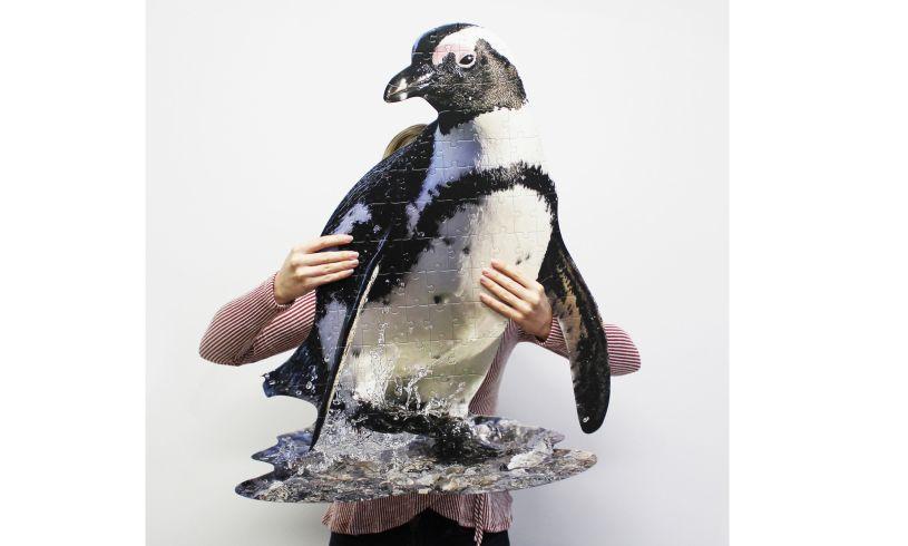 Penguin Shaped Jigsaw Puzzle