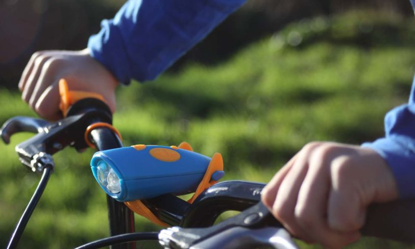 Blue Mini Hornit for bikes and scooters