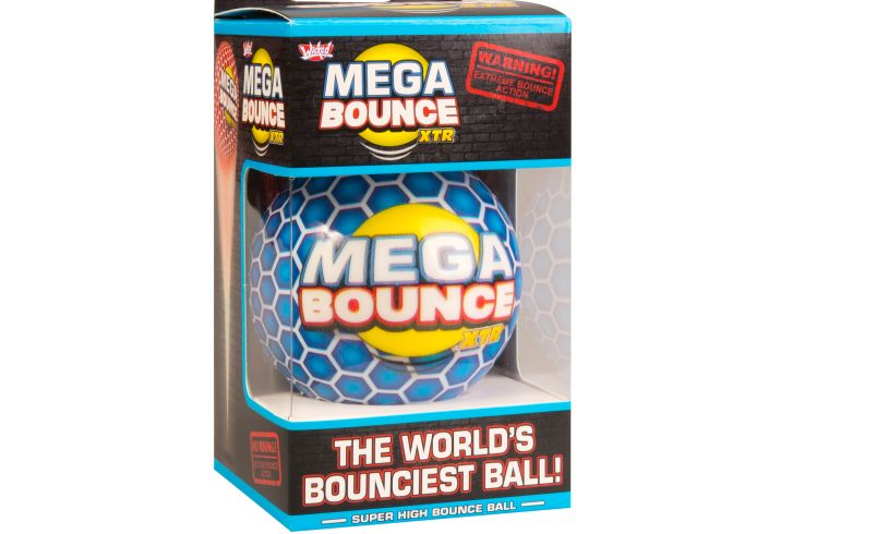 Mega bounce wicked ball box side angle