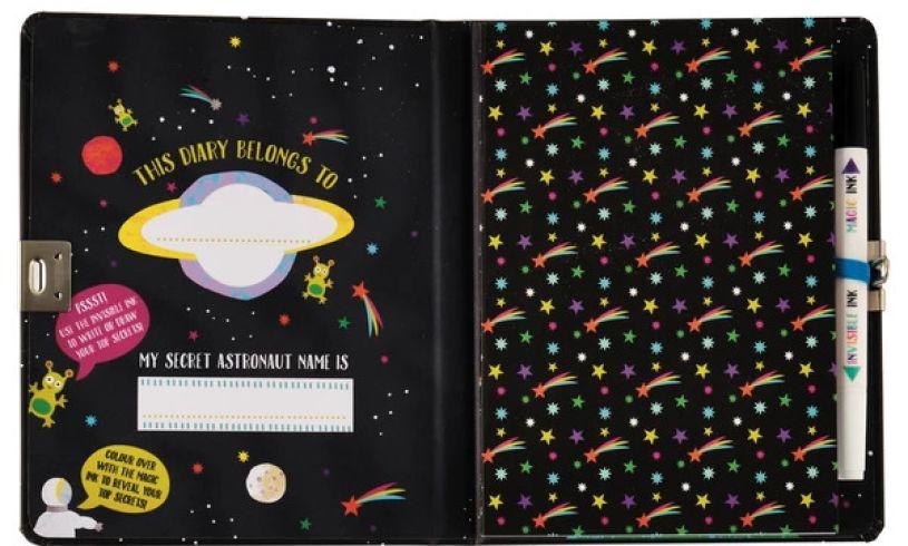 Space Adventure Top Secret Diary Inside