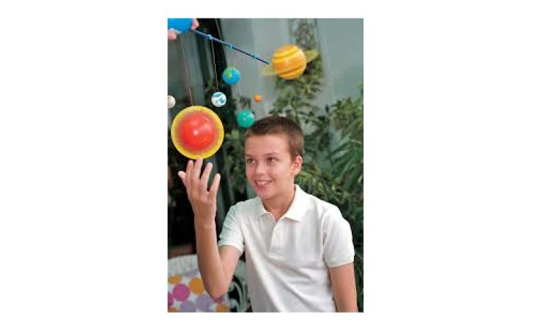 Solar System 3D kit mobile with boy