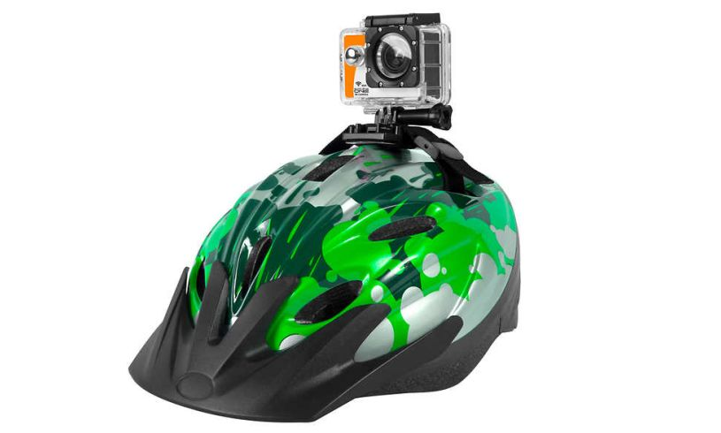 HD action camera in waterproof case