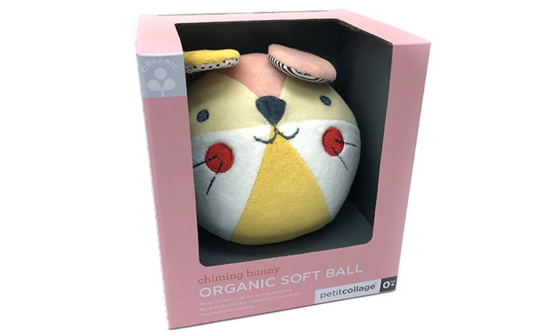 organic Soft ball rabbit petit collage in box