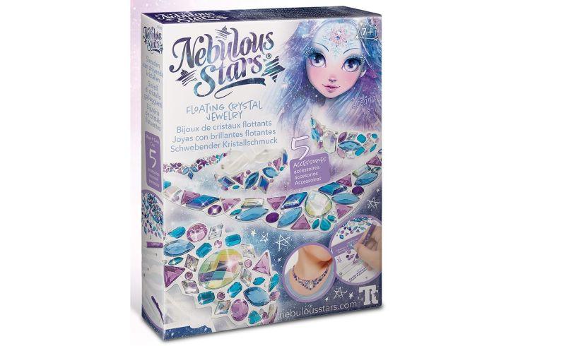Nebulous Stars floating crystal jewelry set box