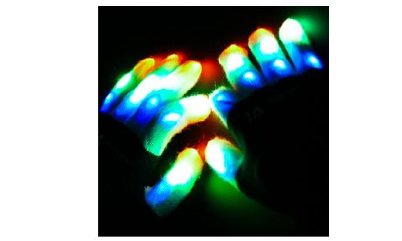 LED light up gloves Illuminated Apparel