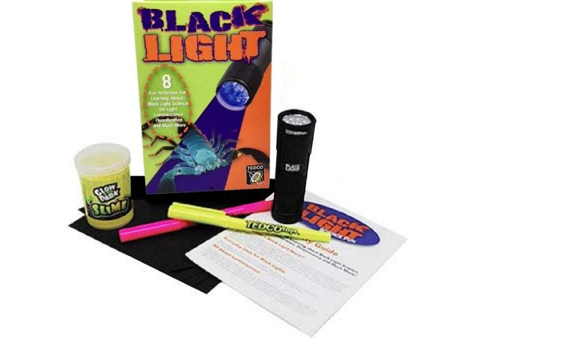 Black light science kit tedco