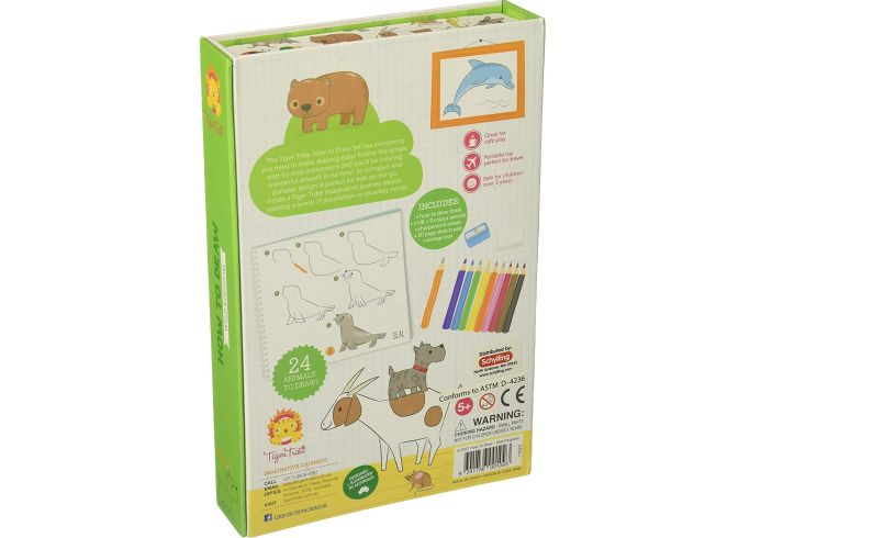 How to draw animals back of box