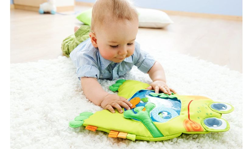 haba little frog play water mat