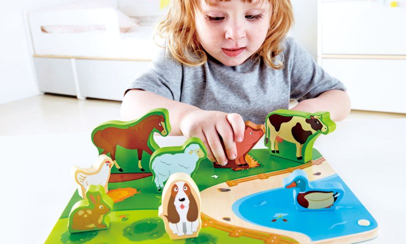 Farm Animal Puzzle and Play Set