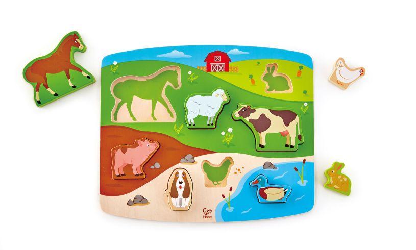 Farm Animal Puzzle and Play Set E1454