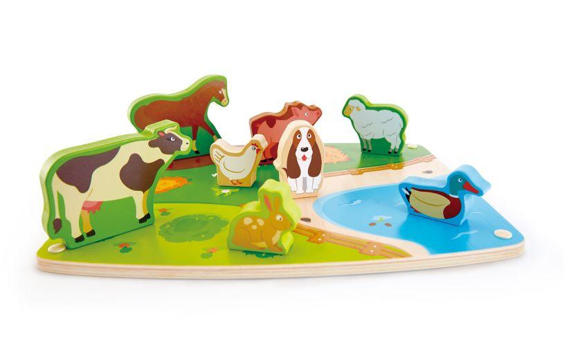 Hape Farm Animal Puzzle & Play E1454