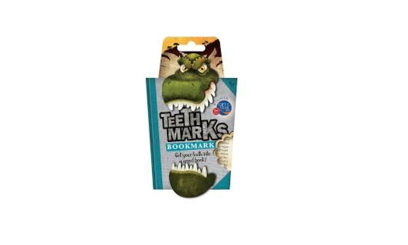 T Rex teethmark bookmark