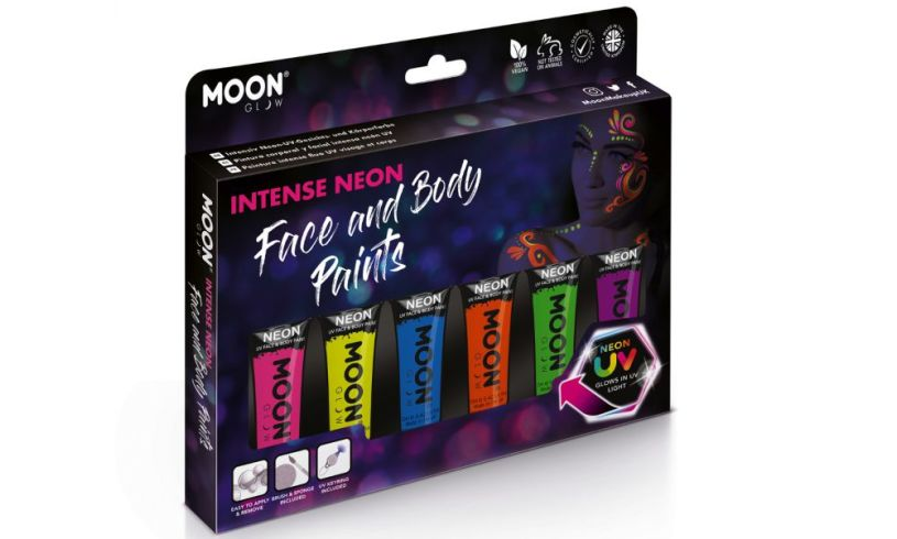Intense neon Glow In The Dark Face & Body Paint Kit