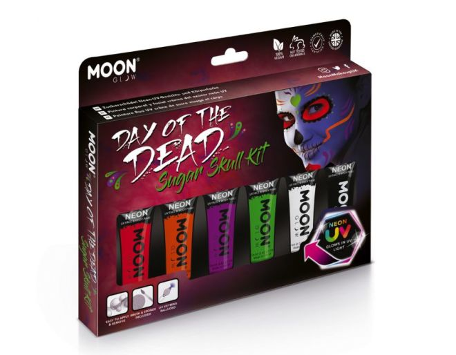 Day of the Dead Supgar skull face paint kit box