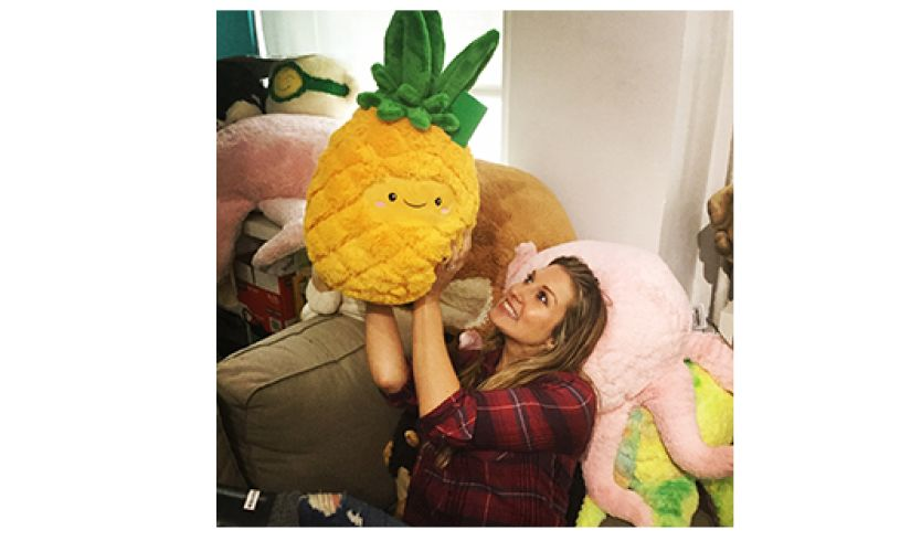 Pineapple squishable with lady