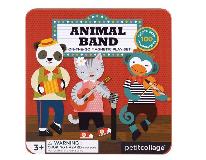 Animal band magnetic play set