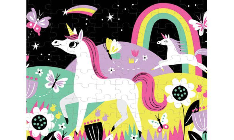 Mudpuppy Glow in the dark unicorn puzzle