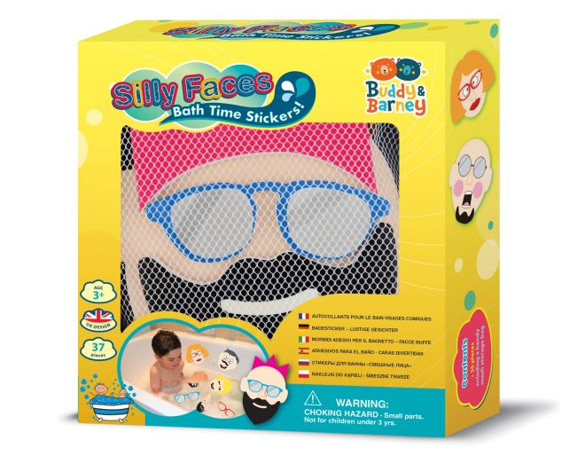 Silly Faces Bath Time Stickers