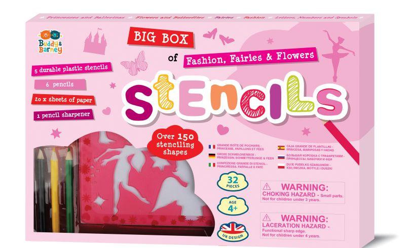 Fashion, Fairies & Flowers Big Box of Stencils