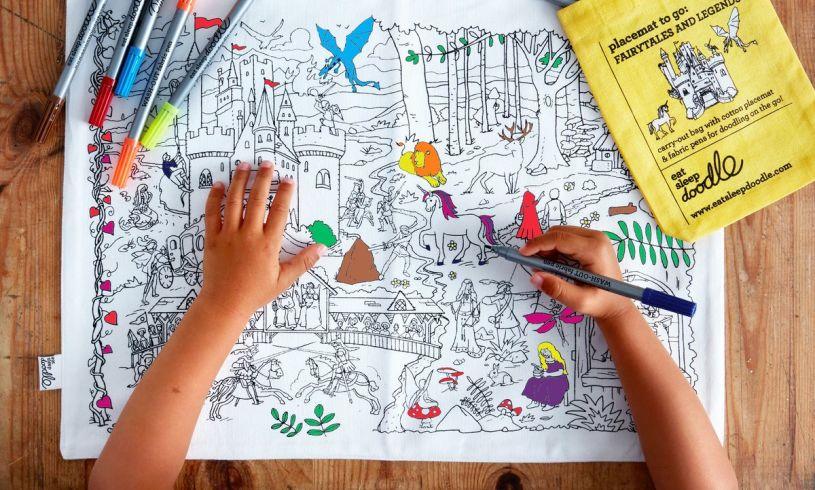 Eat Sleep Doodle Fairytales & Legends Placemat