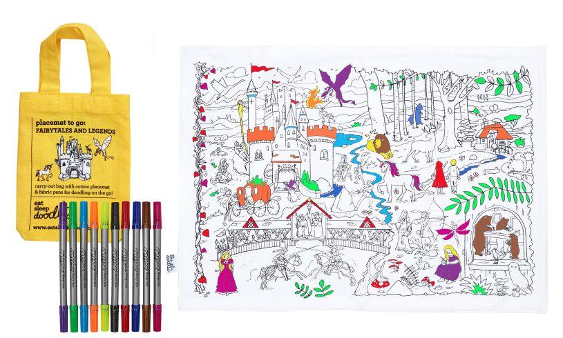 Fairytales & Legends Doodle Placemat