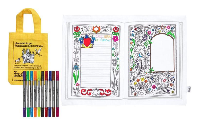 Eat Sleep Doodle Fairytales & Legends Colour In Placemat