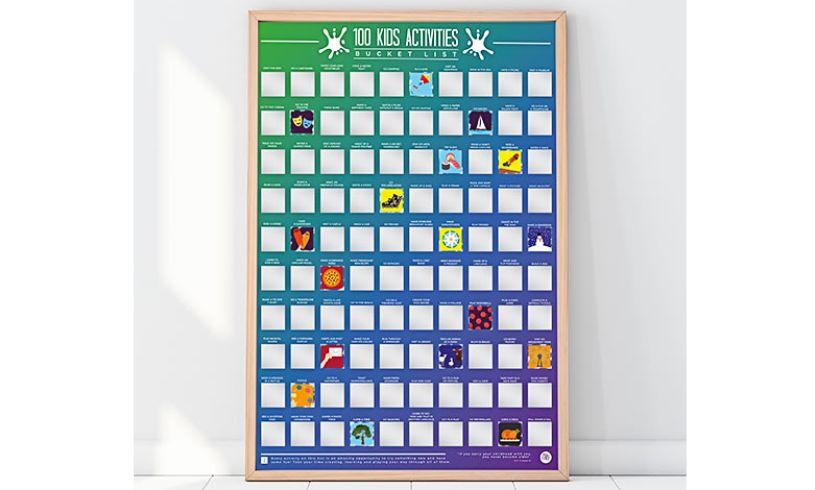 100 Kids Activities Scratch off Bucket List